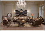 Ornate Traditional Style Living Room Furniture Sofa, Love Seat HD-19 (KD) (SKU: HD-19-LRSET)
