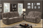 U101 Reclining Living Room Set in Lisa Taupe Fabric (SKU: GL-U101)