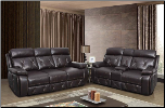 U2133 Reclining Living Room Set in Walnut Leather Gel (SKU: GL-U2133)