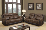 U2015 Reclining Living Room Set in Brown Polish Fabric (SKU: GL-U2015)