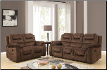 U97370 Reclining Living Room Set in Chocolate Fabric (SKU: GL-U97370)