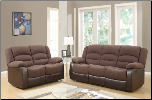 U98243 Reclining Living Room Set in Chocolate Fabric (SKU: GL-U98243)