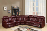 U97601 Reclining Sectional Sofa in Burgundy Leather (SKU: GL-U97601-SECTIONAL)
