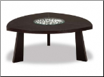 Wenge Coffee Table Set By Global Furnituren USA  (65W) (SKU: GL-65W-CTSET)