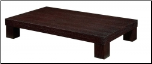 Wooden Rectangular Cocktail Table by Global USA (SKU: GL-G020C-CTSET)