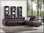 J & M Turino Contemporary Sofa Sectional - Chocolate Brown Fabric (SKU: JM-London-646159824)