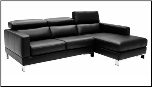 J & M Italian Leather Sectional Sofa 2222 - Walnut (SKU: JM-MM34880)