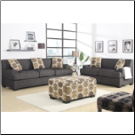 poundex  2 pc Living Room Set  microfiber fabric upholstered Living Room set (SKU: PXSS-7447-LRS)