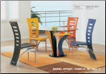 Multicolored Dinette Set with Round Table By Global Furniture USA (SKU: GL-5443DT-COLSET)