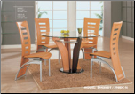 Natural Colored Dinette Set By Global Furniture USA (SKU: GL-5443NDT-DSET)