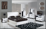 3103 - Queen Modern Design and Unique Euro Style Wooden Bedroom Set By Global Furniture