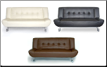 Tribeca Leatherette Sofa Bed - 3 Different Colors (SKU: AHU-TRIBECABL)