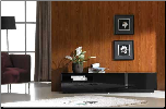 TV027 BLACK HIGH GLOSS TV STAND by J&M Furniture (SKU: JM-TV027-BHG)