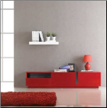 TV027 RED HIGH GLOSS TV STAND by J&M Furniture (SKU: JM-TV027)