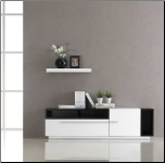 TV030 WHITE GLOSS DARK OAK TV STAND by J&M Furniture (SKU: JM-TV030)