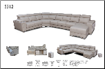 ESF  - 8312 SECTIONAL W/SLIDING SEATS (LEFT OR RIGHT) Leather Sectional by ESF (SKU: ESF-8312)