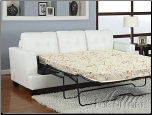 Acme Furniture - Diamond White Bonded Leather Sofa with Queen Sleeper - 15062