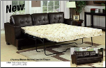 Acme Fine Furniture 15060 Diamond Brown Bonded Leather Sleeper