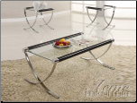 Acme Furniture Living Room Glass Top Occasional Table Set 18420 SET