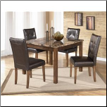 Theo 5 Piece Square Table Set with 4 Chairs by Signature Design by Ashley