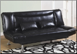 Coaster 300144 Black Finish Futon Sofa Bed Klik Klak