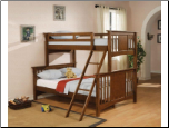 Dark Cherry Twin Over Full Bunk Bed - Coaster 460086
