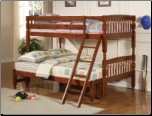 Coaster Twin/Full Bunk Bed in Brown Pine