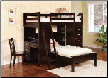 Bunks Workstation Twin Bunk Bed by Coaster