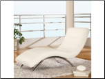 Global Furniture 820 Leather Chaise Lounge