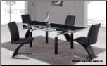 88DT+88DC-BLK Dinning Table + 4 Chairs