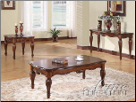 Acme Furniture Cherry Finish Table 3 piece 10290 set