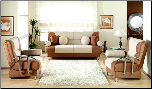 Best Sofa Rainbow Beige-Brown With Metal Arms Sunset Furniture Istikbal