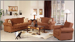 Elita Warm Rainbow Brown Living Room Set - Sunset Furniture - Istikbal