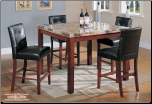 Faux-Marble Table - Counterheight Table  Dining Set (SKU: EM-722)