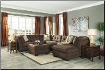 3 PCS Signature Design by Ashley 19700 Delta City-Chocolate   Sectional