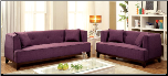 2-Pcs Purple Fabric Sofa Set / CM6761