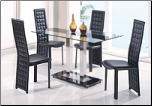 Glass and Metal Constructed Contemporary Dining Room Set  Global Furnither USA (SKU: GL-2108-DSET)