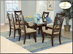 Star Hill  Collection - Glass Top Dining Room Set