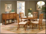 Laurel Heights Collection - Round Dining Room Set (Oak)