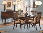 Laurel Heights Collection - Round Dining Room Set (Cherry)