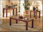 Bologna Coffee/ End/ Sofa Table Set (SKU: AC-7372SET)