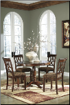 Signature Design by Ashley Leahlyn Cherry Finish Dining Set D436 at Ashley Furniture HomeStore (SKU: AB-D436)