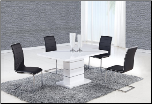 D470DT Dining Set 5Pc w/490DC Black Chairs by Global Furniture