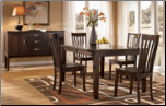 Logan - Dining Room Set with Rectangular Extension Dining Table & 4 Side Chairs Signature Design by Ashley Furniture