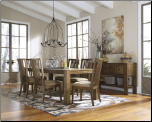 Ashley Signature Design BIRNALLA  Dining Room Oval Extension Dining Table  by Ashley Design  Furniture