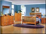 Traditional Bedroom Set in Mission Oak Finish with Panel Bed, 'The Valley' Collection by Homelegance. (SKU: HE-978QBS)