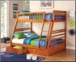 Vincent Twin Over Full Bunk Bed - Coaster 460183 (SKU: CO-460183)