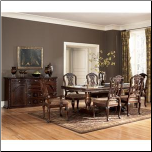 North Shore  -  Double Pedestal Table & Chair Set Signature Design by Ashley Furniture (SKU: AB-D553-S3)