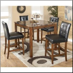 Theo - Table and 4 Chairs Set Signature Design by Ashley Furniture