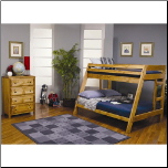 Wrangle Hill Twin Over Full Bunk Bed with Built-In Ladder by Coaster (SKU: CO-460093)
